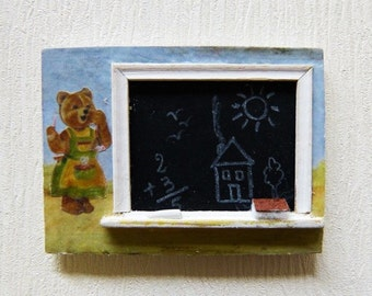 Tableau noir etsy for Tableau noir pour enfant