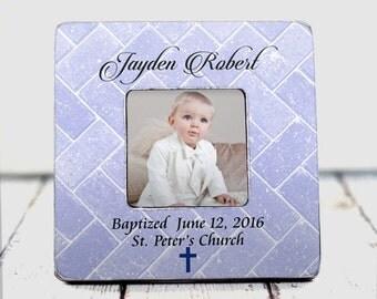 Personalized Baptism Frame - baptism gift communion gift baptism frame girl baptism gift boy baptism gift baptism personalized church gift