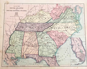 1875 Map Of The Southeastern United States 1875 Map Of The Western United States
