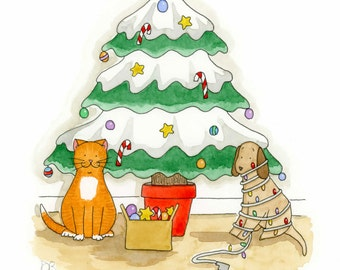 Naughty or Nice Wilma Christmas Card