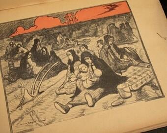 """Antique book. """"Aux Victimes de la guerre russo-japonaise. Un groupe d'artistes."""""""