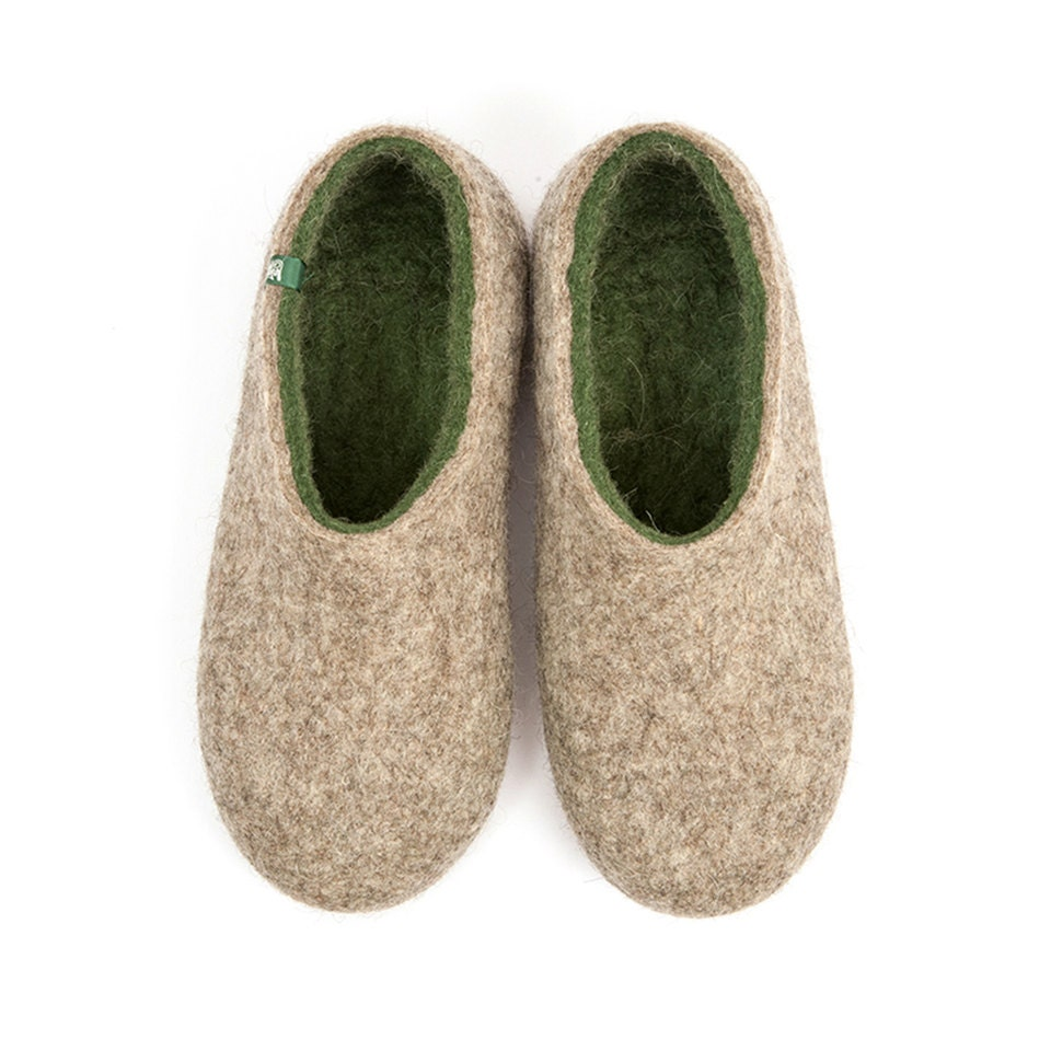 Wool clogs for men House slippers wool slippers for men