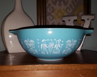 Vintage Pyrex  444 Butterprint Cinderella Nesting Bowl