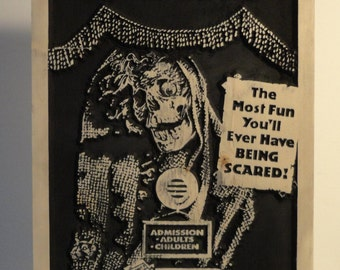 Creepshow Wood Carving Stephen King George A. Romero Comic Movie NEW Wall Art