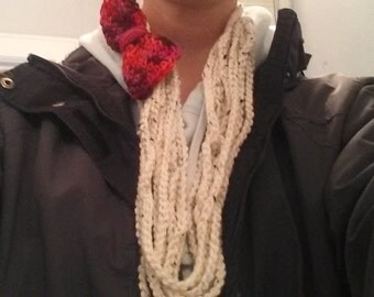 Chain Scarf with bow