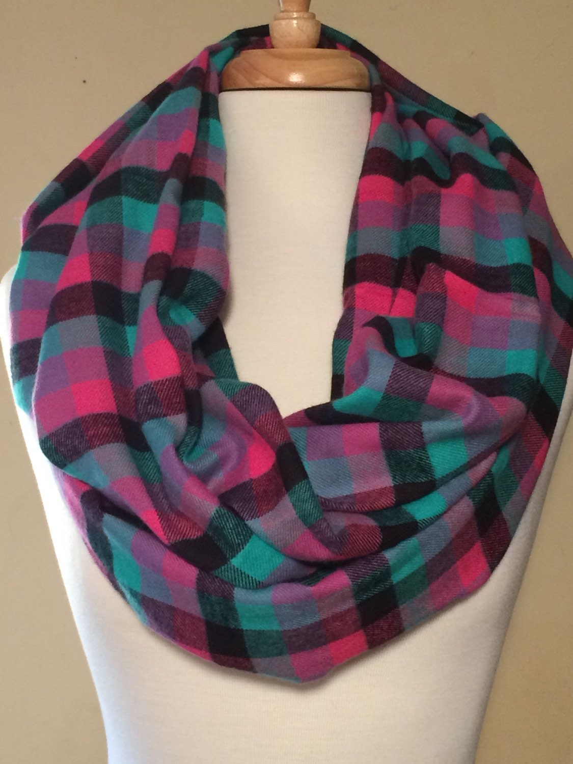 flannel scarf multi colored scarves loop scarfs soft cozy