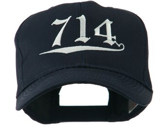714 Orange County Area Code Embroidered Cap