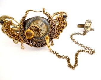 Brass Steampunk Cuff Bracelet_ ST4200532478_BR_Steampunk Accessories_Gift Ideas