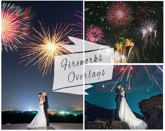 BOGOF, 50 Firework Photoshop Overlays,  Digital Backdrop, Photo Overlays, Sparklers Overlays, Wedding Firework Overlays, Instant Download