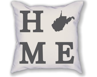 West Virginia Home State Pillow
