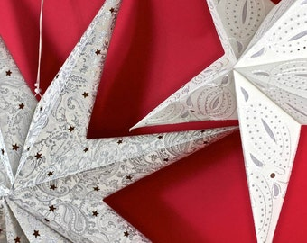 Stitched Paper Star Decoration IS007