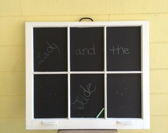 Vintage Window Repurposed into Chalkboard