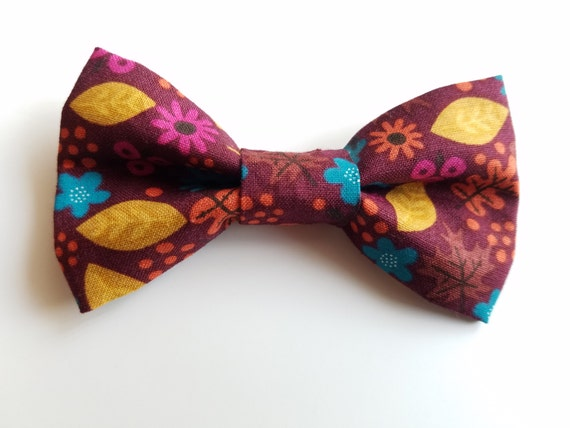 Fall Bow Tie for Cat or Small Dog Collars, Matching Velcro Collar, 100% Sales Goes to Feeding Feral Cats