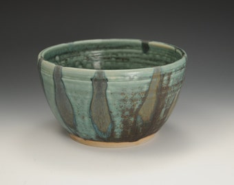 Medium Small Handmade Stoneware Serving Bowl       Ready to Ship