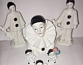 Collection of Art Deco style Pierrot