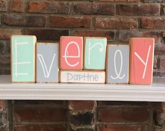 Baby Name Blocks - Custom Baby Gift