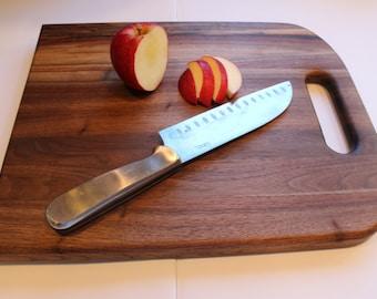 Large Wood Cutting Board, Walnut Cutting Board
