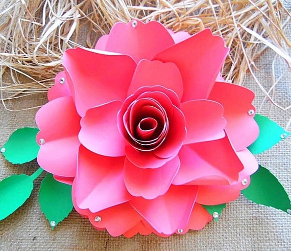 DIY Paper Roses Rose Flower Templates SVG Files Large Wedding Decor Tutorial