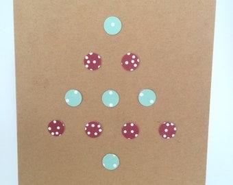 Dot Christmas Tree Cards