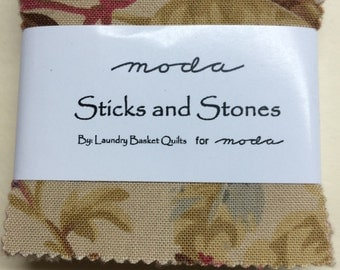 Moda Sticks and Stones by Laundry Basket Quilts Mini Charm Pack