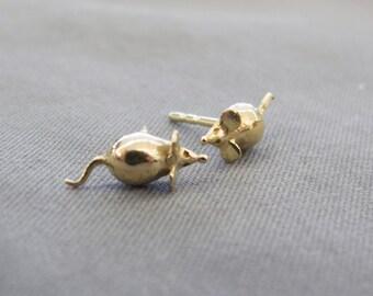 Mouse earrings for children