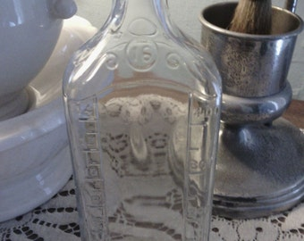 Large 16 oz Vintage Lyric Glass Medicine Bottle