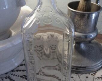 Large 16 oz Vintage Lyric Glass Medicine Bottle