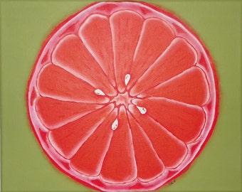 8x10 Canvas Painting/Orange