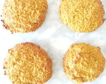 Organic Pumpkin Cookies Dairy Free Gluten Free Low Sugar Low Carb Paleo