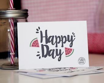 Card 10 x 15 • Happy Day • map InsidePapers