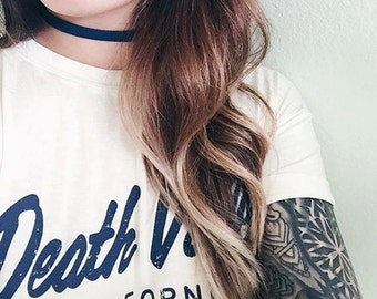 Blue Per-Suede-sion Choker - Royal Blue Suede