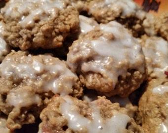 Homemade Iced Oatmeal Cookies - Plain, Raisin or Cranberry - 48 Cookies