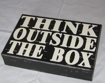 Wall Decor Plaque - Think Outside of the Box