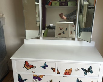 Upcycled spray-painted Queen Ann Dressing table - Uk delivery available