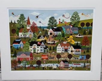 "Jane Wooster Scott Artist Proof 1991 Serigraph ""On The Summer Wind"""
