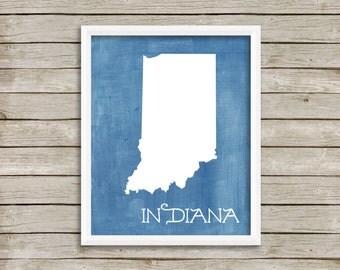 Custom Printable Digital Art - Honest to Goodness Indiana - 8x10