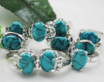Sterling Ring with Turquoise Stone