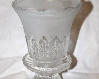 Pretty Glass Vase - Planter or Dish