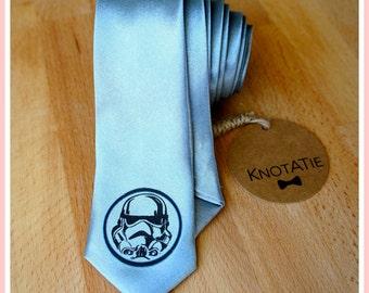 Star Wars Neckties.Stormtrooper.Darth Vader.Man Tie.PRINTED.Neckties.Man neck tie.Skinny Tie.Superhero mens tie.Star war Gift.Star war Tie