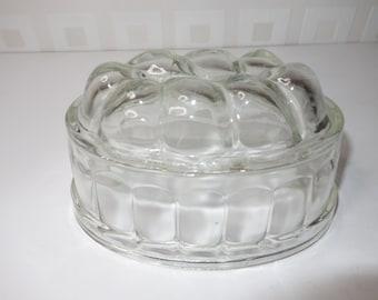 Glass jelly mold British 1950's