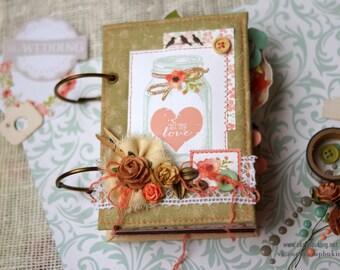 Wedding mini-album.