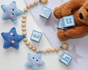 Crochet Baby Stroller Toy/ Pram Toy/ Pram Chain/ Baby Shower Gift/ Crochet Stroller Mobile/ Baby Garland/ Stroller Chain/ Baby Gift
