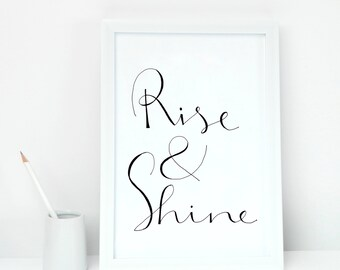 Rise and Shine - Illustration Print - art