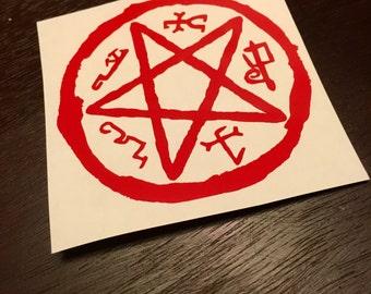 "Supernatural Inspired ""Devil's Trap"" Vinyl Decal"