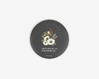 Mini Pocket Mirror : Flower Grey - Dailylike Canada