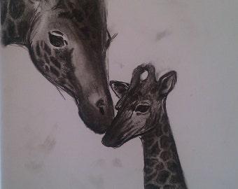 Giraffe Mum & Baby