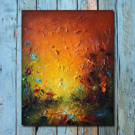 Painting Poppy Oil Painting Modern Abstract Landscape Poppy