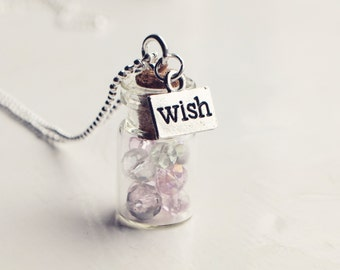 glass vial wish necklace