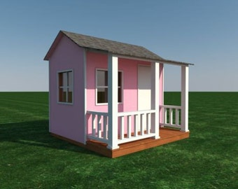 Build your own Shed or Playhouse for the kids (DIY Plans) Fun to build! Cubby!