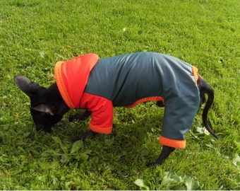 small  dog water resistant jumpsuit